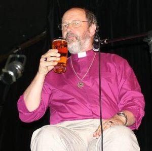 The Paul's minion drinking beer in Church...  Ghastly! (but at least he isn't speaking)