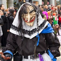 Chris Tilling in the Zurich Carnival- with his mask OFF.