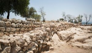 Khirbet Qeiyafa: Are these the ruins of King David's palace? Photo by Tali Mayer