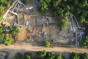 Tel Kabri at the end of the 2013 excavation season. Photo: SkyView Photography, Ltd.