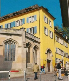 Zwingli's house (the Yellow Building)