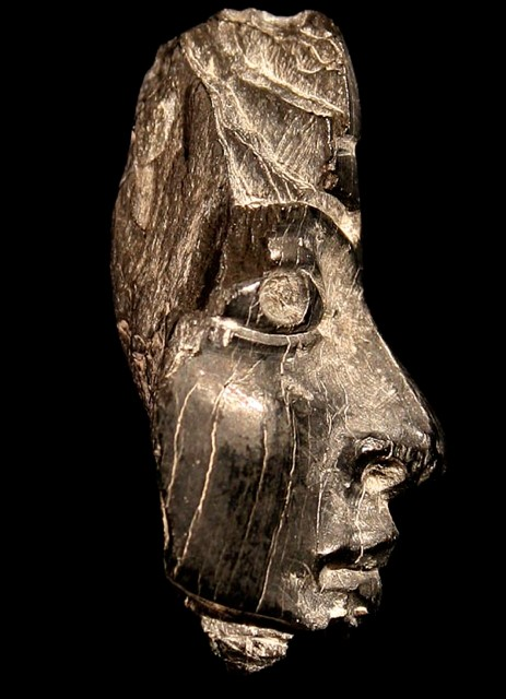 Fragment of a carved ivory head. Samaria, 9th-8th centuries BCE