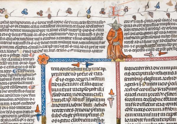 from Decretals of Gregory IX with gloss of Bernard of Parma (the 'Smithfield Decretals') (c1300-1340), British Library Royal MS 10 E IV, f. 30v