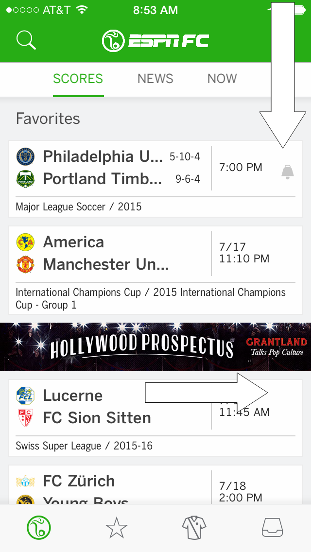 The ESPN FC App Will Allow Game Alerts For MLS, But Not For