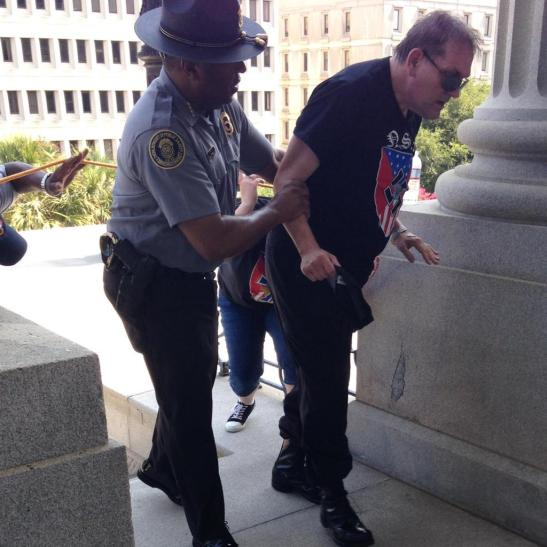 Leroy Smith helps white supremacist to shelter & water as heat bears down.