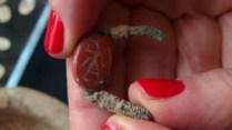 Carnelian signet ring found at Tel Halif. Image: Ilan Ben Zion/Times of Israel staff
