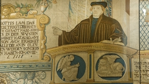 Wandteppich aus der Zeit der Reformation