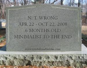 Wrong-tombstone