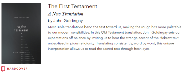 The biblioblog reference library im very keen to read this unlike a couple of people wright and hart for example who have tried to translate the new testament goldingay actually knows fandeluxe Images